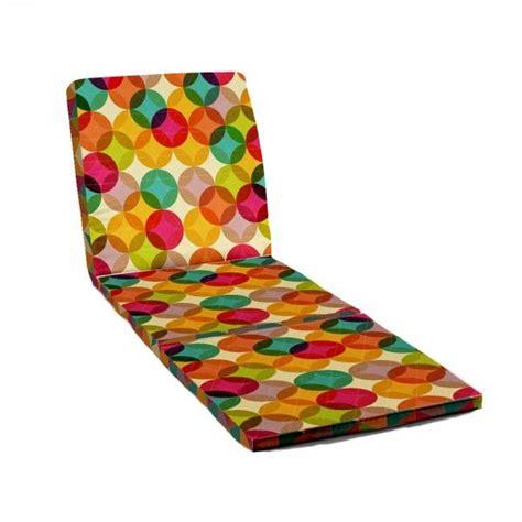 cuscini per lettini da giardino cuscino per lettino da spiaggia calix multicolor