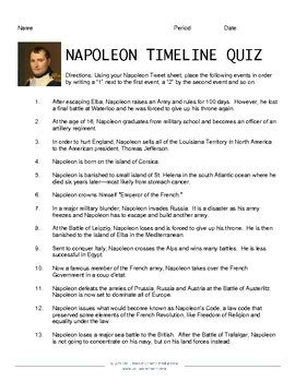 napoleon bonaparte biography worksheet napoleon tweets classroom activity by bell book and camera