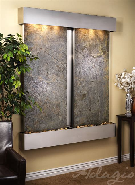 slate wall water features wall water features and fountains