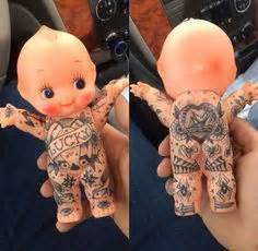 kewpie yakuza advertisement for o neill designed kewpie embroidery