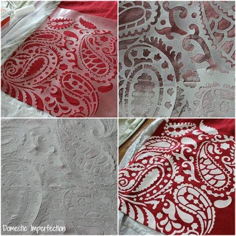 fabric pattern stencils ideas diy projects gallery domestic imperfection