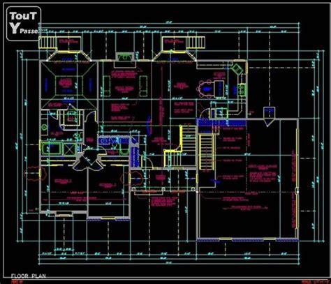plan maison format dwg gratuit plan maison autocad