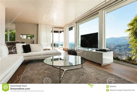 fotos de interiores de casas modernas casa moderna interior sala de estar foto de archivo