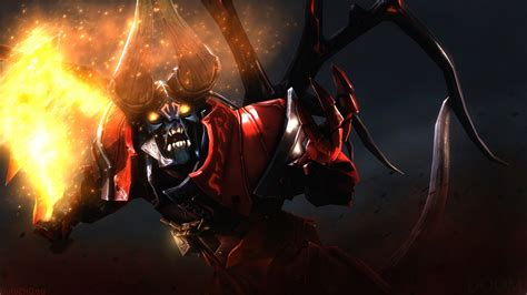 full hd wallpaper lucifer demon doom dota  art desktop