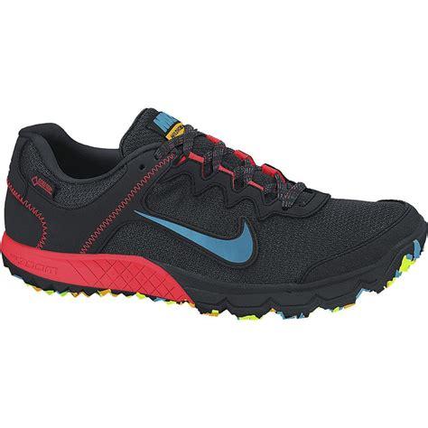 nike gtx running shoes nike mens zoom wildhorse gtx trail running shoes black