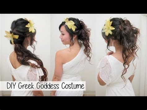 how to make a big greek goddess hair bun diy greek goddess costume l hair accessories no sew toga