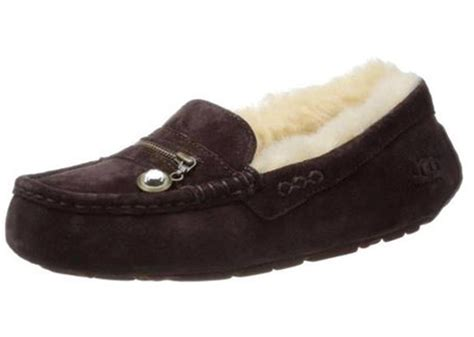 uggs loafers s ugg australia ansley charm moccasin loafer suede