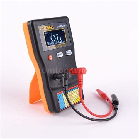 low esr capacitor tester mesr100 auto ranging in circuit esr capacitance meter low ohm tester capacitor ebay