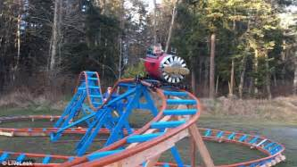 best backyard roller coaster father builds his toddler a backyard roller coaster