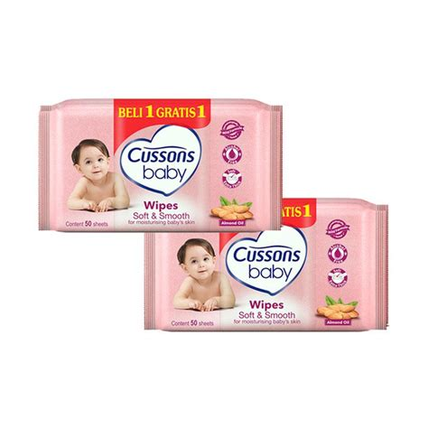 Cussons Baby Wipes Soft Smooth 10s buy more save more up to rp 30 000 pricearea