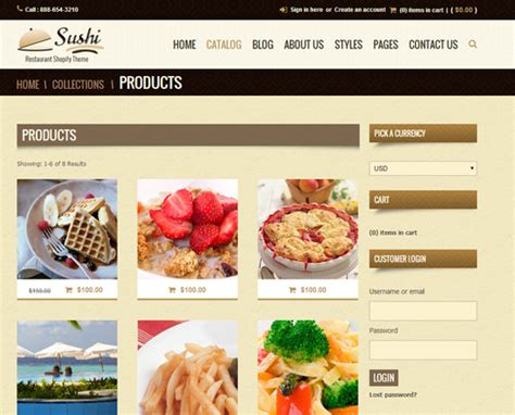 shopify themes food 35 best premium shopify themes for e commerce web shops