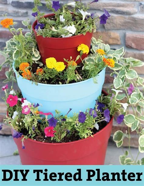Tiered Flower Planters by Diy Garden Tiered Planter Diy Tiered Planter Diy