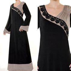 Gamis Kaftan 2 Tone grey a line and cotton on