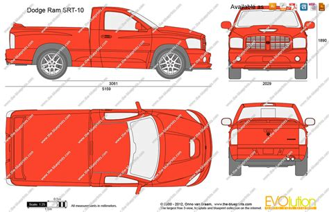 Dodge Ram 1500 Bed Size by The Blueprints Vector Drawing Dodge Ram Srt 10