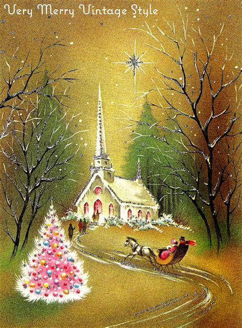 merry vintage syle vintage christmas cards pink week