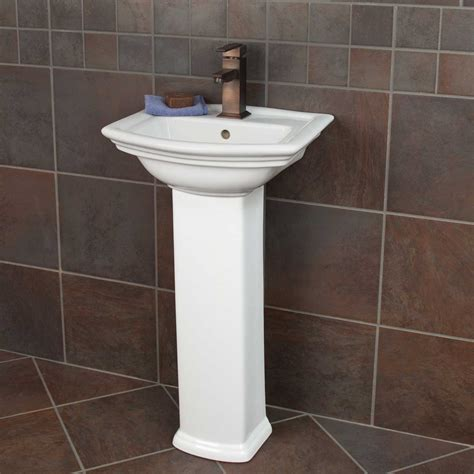 pedestal sinks for small bathrooms maisie pedestal sink bathroom