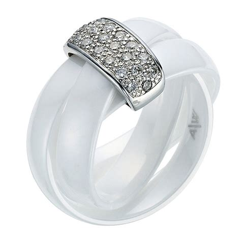 amanda wakeley white ceramic ring ernest jones