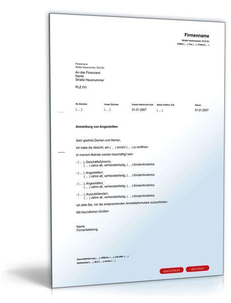 Musterbriefe Finanzamt anmeldung angestellten beim finanzamt muster zum
