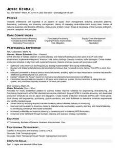 exle materials manager resume free sle