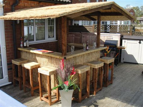 Outdoor Bar Home Bar Thatched Roofed Tiki Bar Gazebo Backyard Tiki Bar Ideas