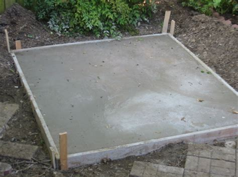 concrete for shed base mix shed living ideas