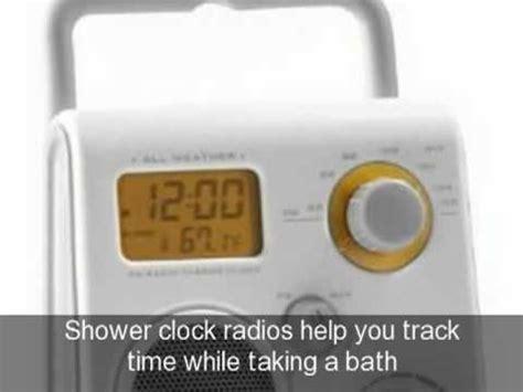 clock radio for bathroom bathroom radio clocks radio alarm clocks www top clocks com