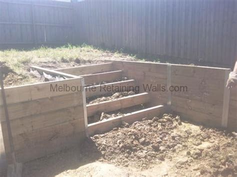 Retaining Walls Treated Pine Sleepers by Torquay Treated Pine Sleeper Retaining Wall 171 Melbourne