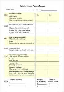 strategic marketing plan template free sle marketing strategy template 7 free documents