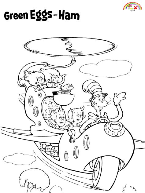 Green eggs and ham dr seuss free coloring page - Blogx