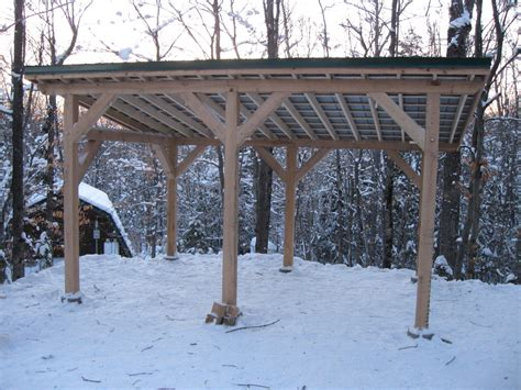 Shed Roof Carport Plans by Projects Post And Beam Carport Shed Boat Storage Dec