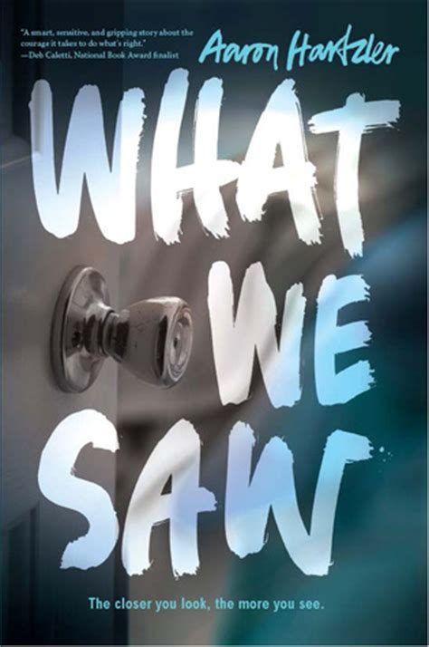 we books book review what we saw by aaron hartzler