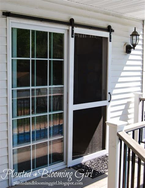 Barn Door Repair Sliding Screen Door Barn Track Planted And Blooming Doors Floors Shutters And Windows