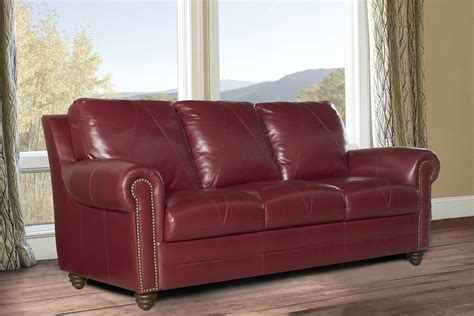 red leather loveseat new luke leather quot weston quot cherry red 3 piece set sofa
