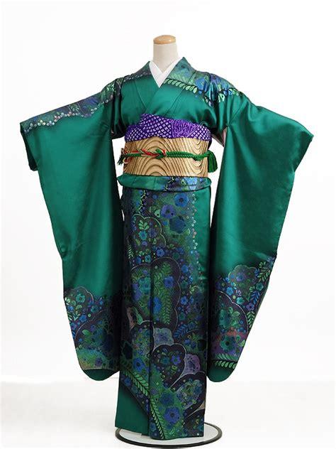 Kimono Foil k bridal rakuten global market kimono kimono rental 126 green foil tsujigahana wedding