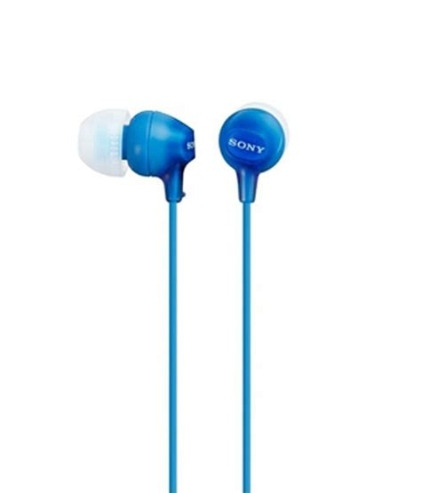 best earphones without buds buy sony mdr ex15lp in ear earphones blue without mic