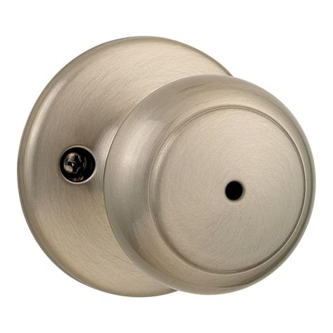 Kwikset Cove Satin Nickel Bed Bath Knob 300cv 15 6al Rcs Bathroom Shower Knobs