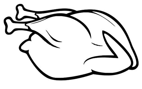 coloring pages fried chicken roast chicken drawing