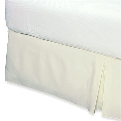 california king bed skirt buy smoothweave 14 inch tailored california king bed skirt in ivory from bed bath