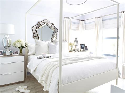 how to decorate a white bedroom hgtv shows how to make an all white room beautiful and