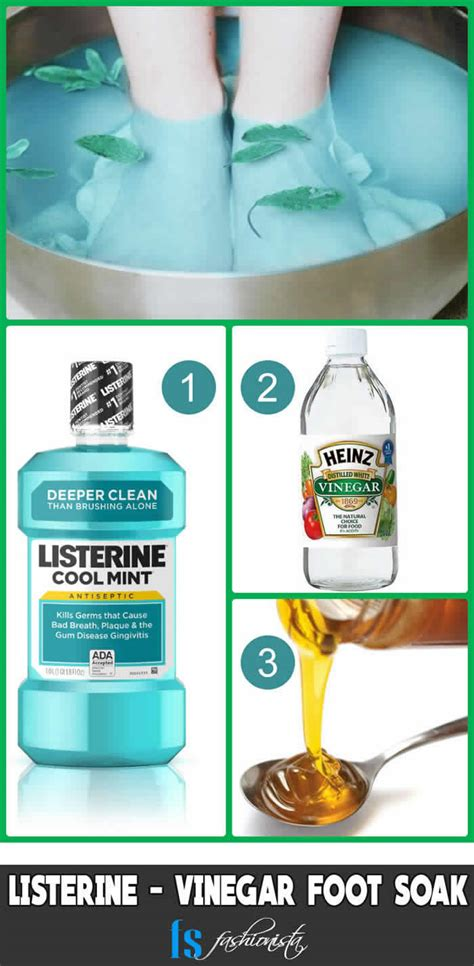 Foot Bath Detox Listerine by 7 Listerine Foot Soak Recipes For Soft Silky