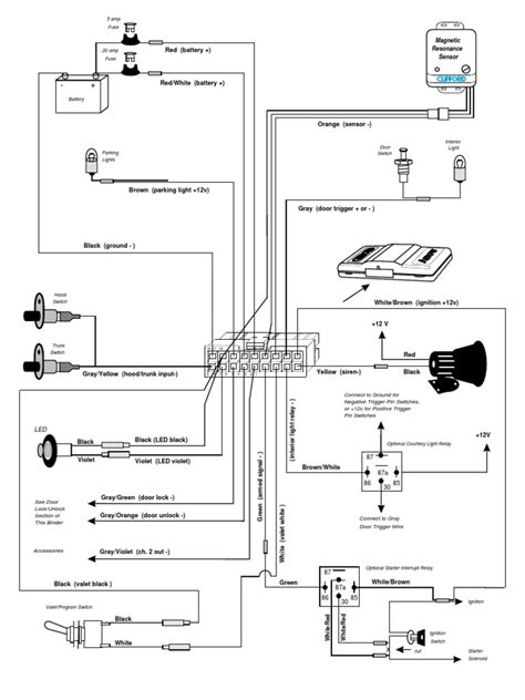 clifford arrow 3 alarm wiring diagrams arrow free