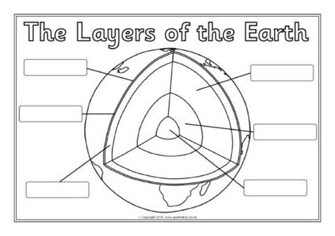 structure  layers   earth labelling worksheets