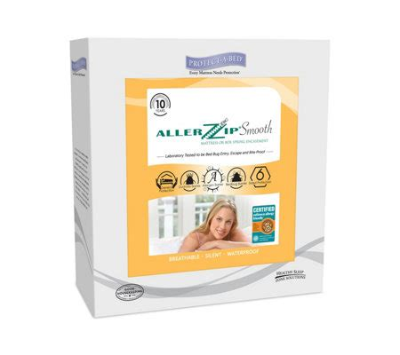 protect a bed king protect a bed allerzip smooth king 13 quot mattressencasement qvc com