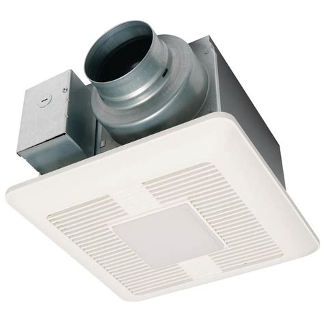 panasonic 80 cfm fan light panasonic whisperrecessed led bathroom fan with led light