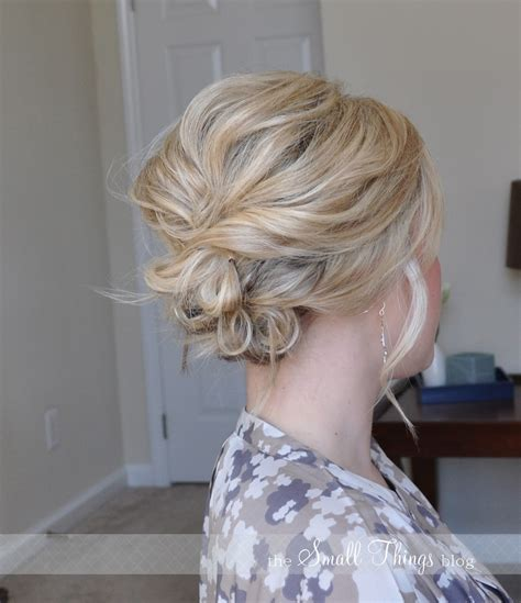 messy updos for fine hair the messy side updo the small things blog