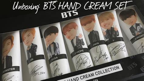 Bts Handcream Set unboxing bts set