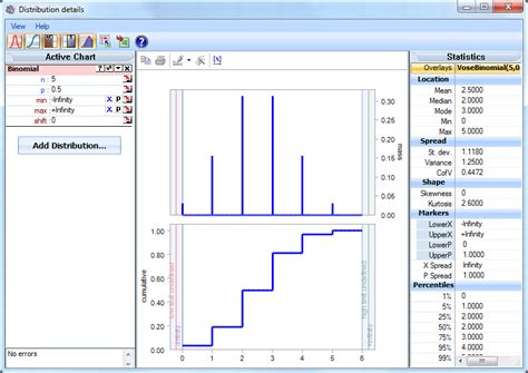 the vantage point excel modelrisk binomial distributions