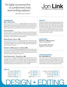 indesign resume template jon link