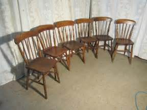 Set Of 6 Beech & Elm Country Kitchen Dining Chairs