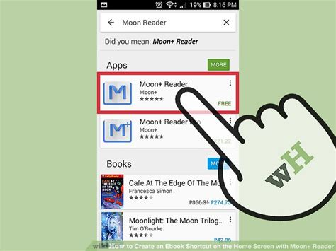 ebook format for moon reader how to create an ebook shortcut on the home screen with